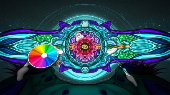 Color Space turns VR into a coloring book.