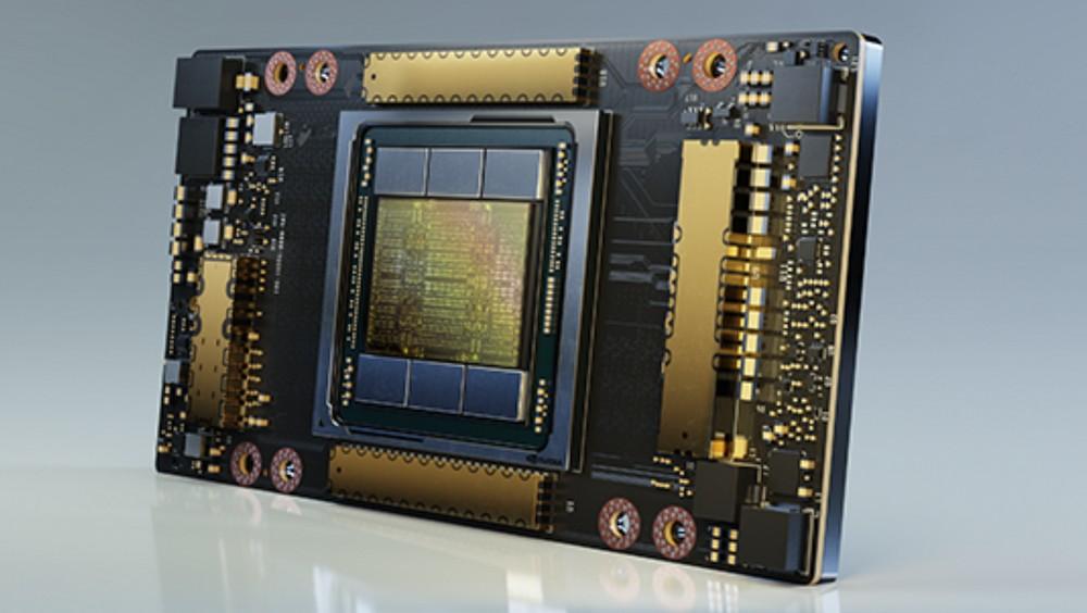 Grafikkarte A100 von Nvidia auf Basis der neuen Ampere-Architektur