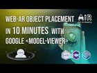 Here is a very simple tutorial for Web-AR Object Placement using Google Model Viewer