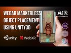 WebXR Marker less Object Placement - Augmented Reality in Browser using ...